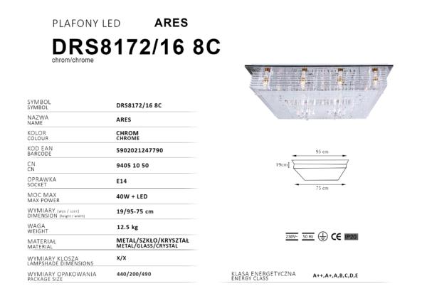 prostokątny plafon LED