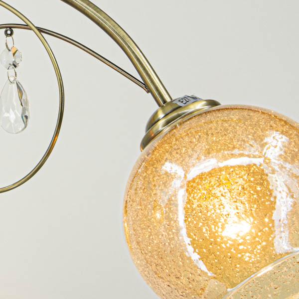 Zbliżenie na kolor i fakturę klosza lampy
