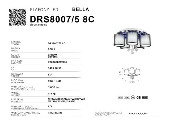 karta produktu plafon LED