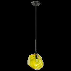 lampa wiszącza z nowoczesnym kloszem w formie kryształu
