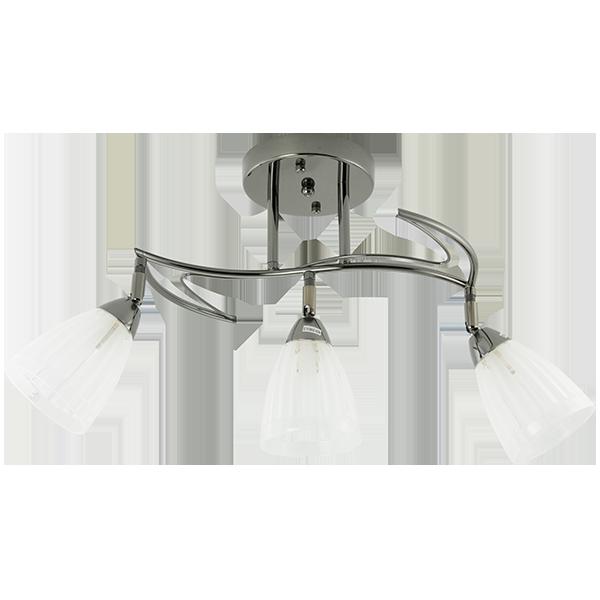 klasyczna lampa sufitowa z kloszami w kształcie kielicha