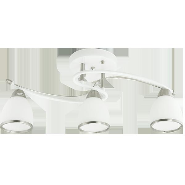 klasyczna lampa z matowymi kloszami w kolorze białym