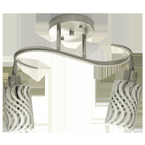 lampa z dwoma podłużnymi kloszami