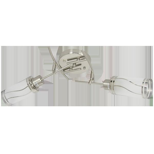 klasyczna lampa sufitowa z dwoma kloszami