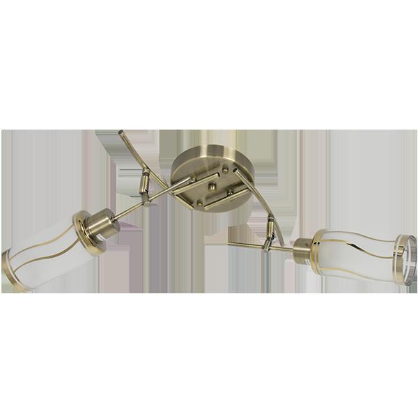 klasyczna lampa w odcieniach złota