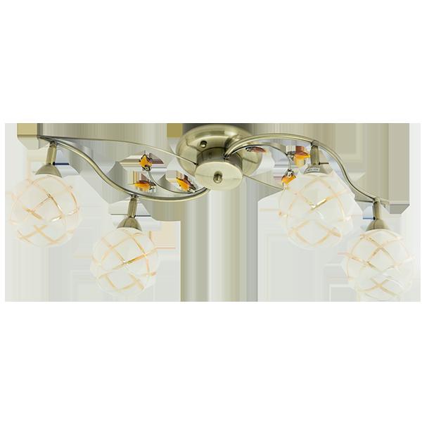 złota lampa klasyczna sufitowa ze zdobieniami