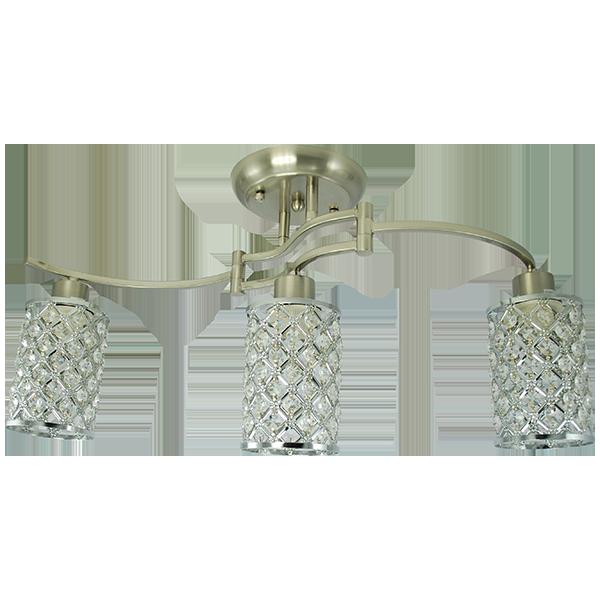 lampa w stylu nowojorskim ze zdobionymi kloszami