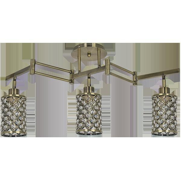 lampa w stylu modern classic w złotym kolorze