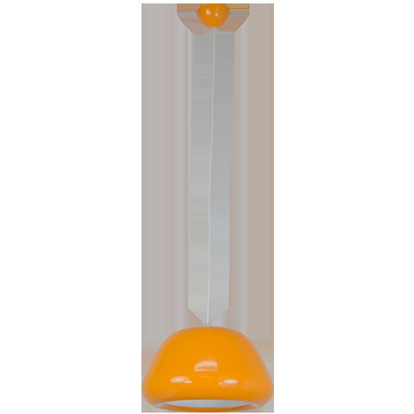 wisząca lampa z pomarańczowym kloszem