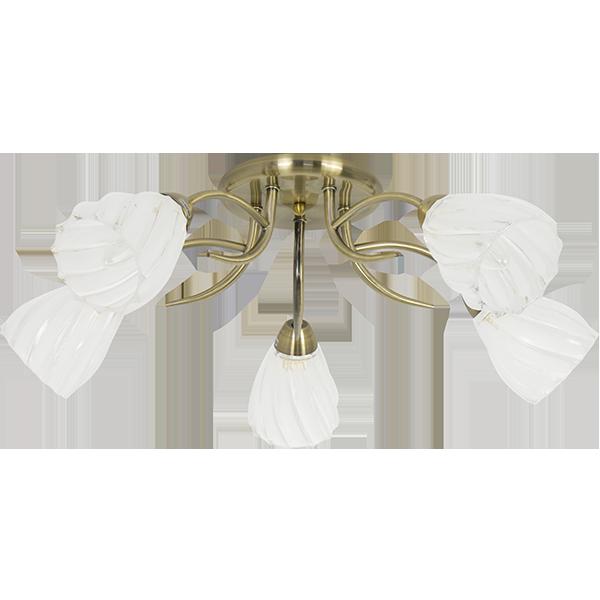 lampa w bieli i starym złocie w klasycznym stylu