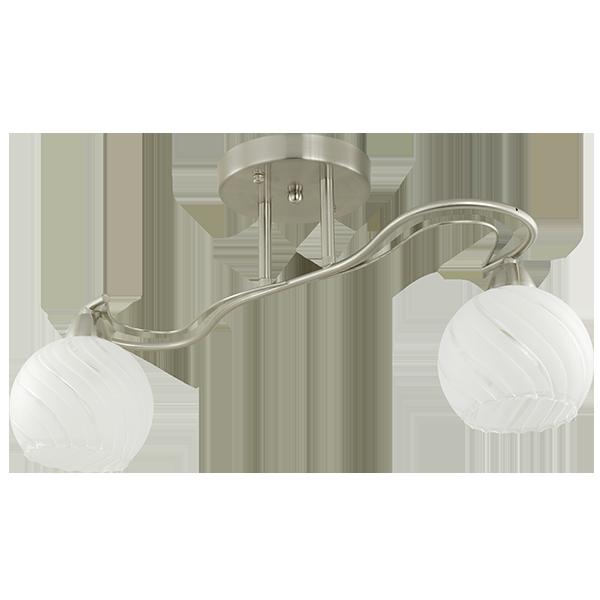 klasyczna lampa sufitowa z wygiętym łukiem