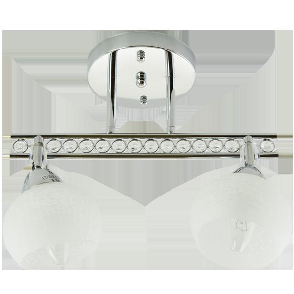 klasyczna lampa sufitowa z okrągłymi kloszami i zdobieniem