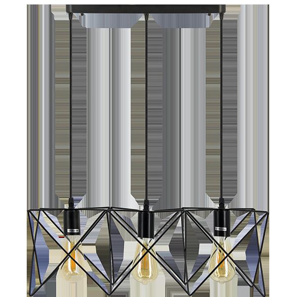 Lampa z metalowymi elementami w stylu industrial