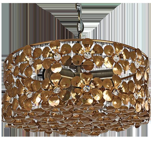Lampa wisząca w stylu vintage kolor stare złoto