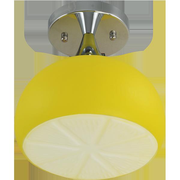 lampa z kloszem w mocnym żółtym kolorze