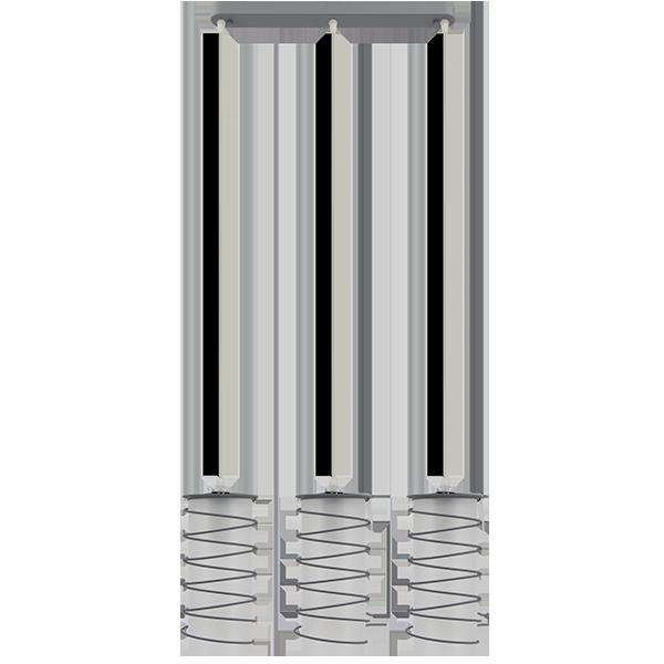 Lampa wisząca z ciekawym kloszem