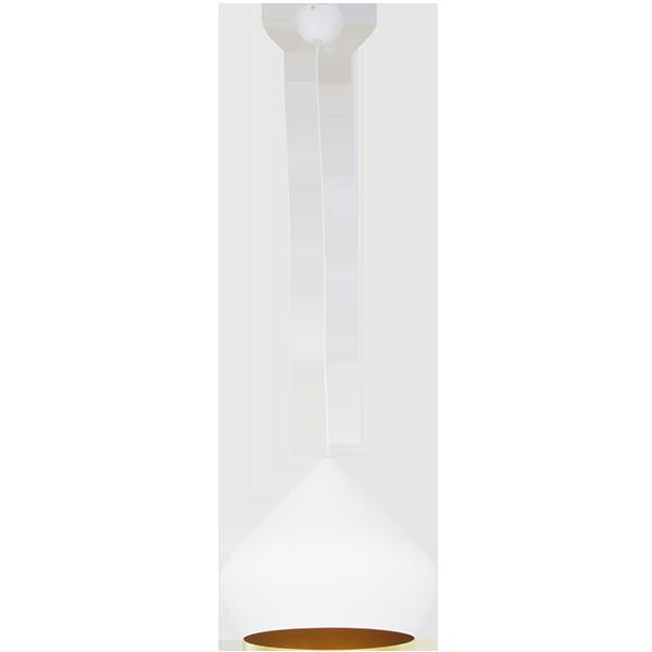 lampa wisząca z dwukolorowym kloszem