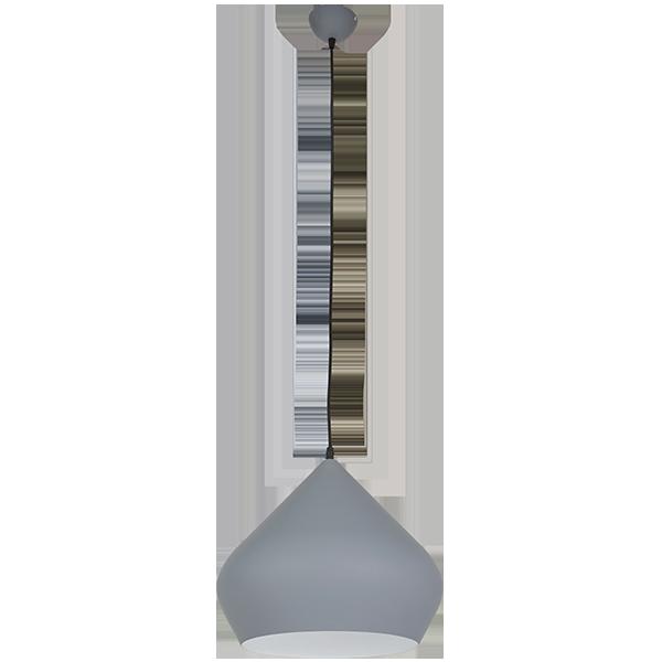 lampa z szarym kloszem