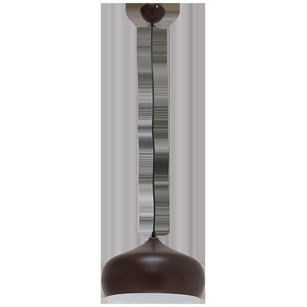 lampa wisząca z ciemnym kloszem