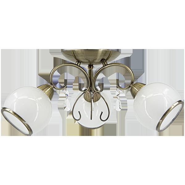 klasyczna lampa sufitowa w stylu glamour