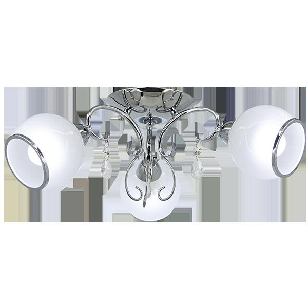 klasyczna lampa sufitowa w stylu glamour w srebrnym kolorze
