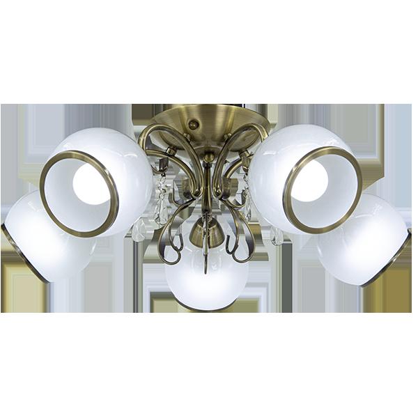 klasyczna bogato zdobiona lampa sufitowa