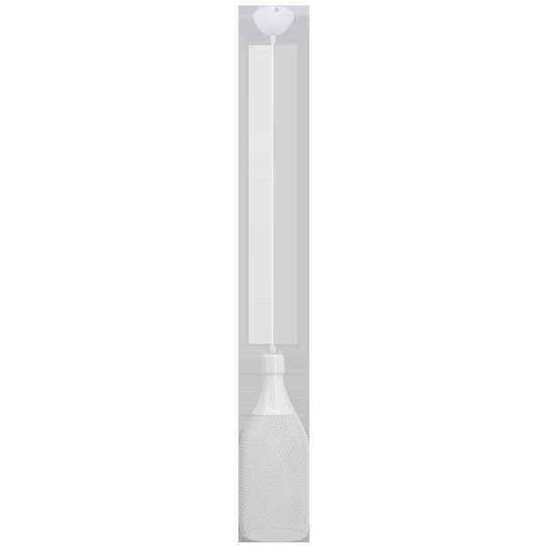 Lampa ze szklanym kloszem w kształcie butelki