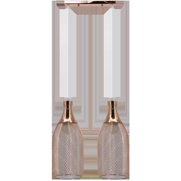 Lampa zwis z dwoma kloszami