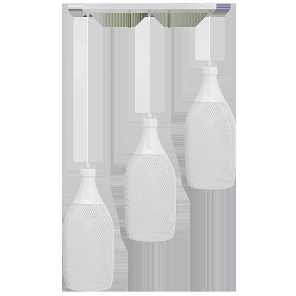 Lampa wisząca z buelkowym kloszem